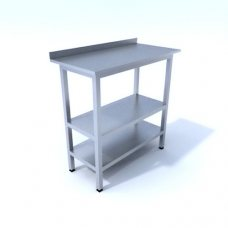 Купить стол производственный с двумя полками