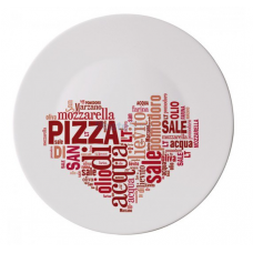 "Блюдо ""i love pizz red"" для пици ronda 33 см"