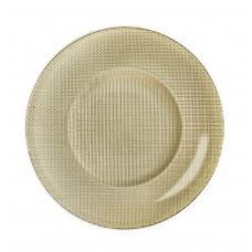 Блюдо золотое стекло inca 31 см