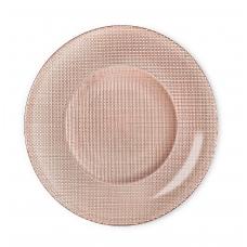 Блюдо круглое стеклянное бронза inca 31 см.