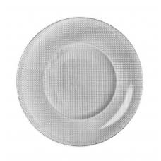 Блюдо круглое стеклянное серебро inca 31 см.