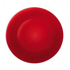 Блюдо стелянное круглое красное inca 31 см