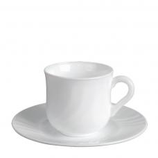 Набор чашек с блюдцами. для кофе ebro 100 мл 6 предметов