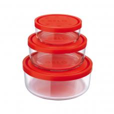 Набор контейнеров с крышкой крышками gelo 3 предмета