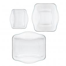 """Набір 6 предметів скляних тарілок nettuno """"you & me"""" 0.5 л."""