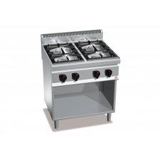 Професійна 4-х конфорна газова плита без духовки Bertos G7F4+A4