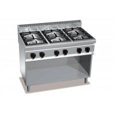 Газова 6-ти конфорна плита без духовки Bertos G7F6ME+A6