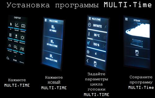 Технология MULTI.Time Готовьте разные продукты одновременно