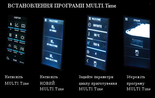 Технологія MULTI.Time Готуйте різні продукти одночасно